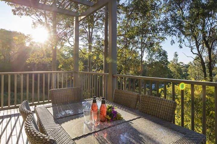 Oaks Cypress Lakes Resort 3 Bedroom Premier Villa Balcony