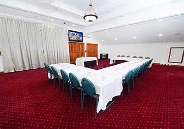 Rockerfeller conference room set for event